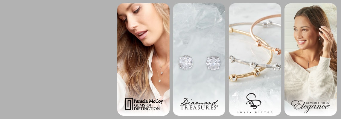 191-744 Pamela McCoy Gems of Distinction 194-231 Diamond Treasures  174-748 Sonia Bitton 184-467 Beverly Hills Elegance