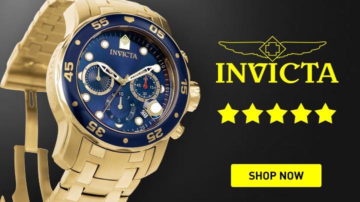 678-667 Invicta 48mm Pro Diver Scuba Quartz Chronograph Bracelet Watch w 8-Slot Dive Case