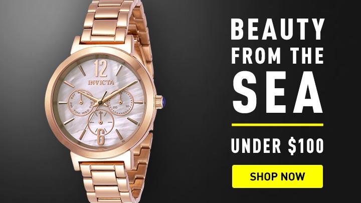 676-104 Invicta Women's Angel Quartz Multi Function Mother-of-Pearl Bracelet Watch