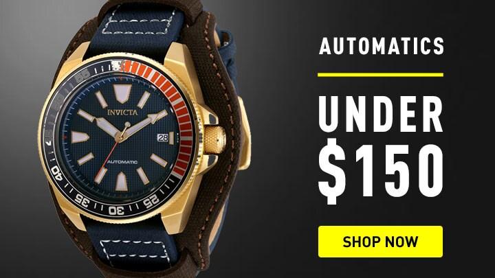 676-845 Invicta 44mm Pro Diver Lagarto Automatic Leather Strap Watch