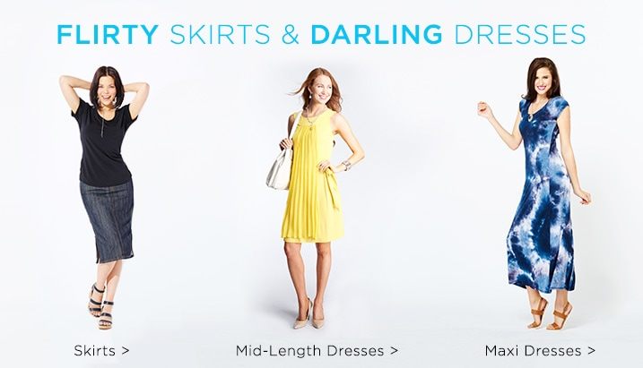 Skirts & Dresses at Evine