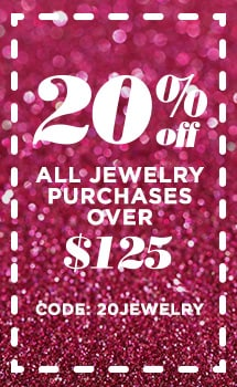 20% OFF jewelry purchases over $125 with coupon code: 20JEWELRY at Evine