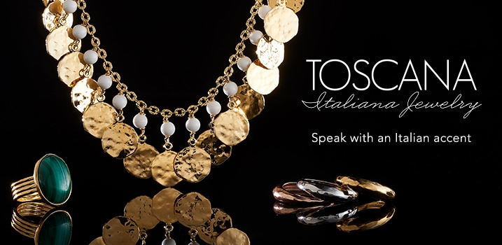 Toscana Italiana Jewelry at Evine - 168-476, 168-486, 168-485