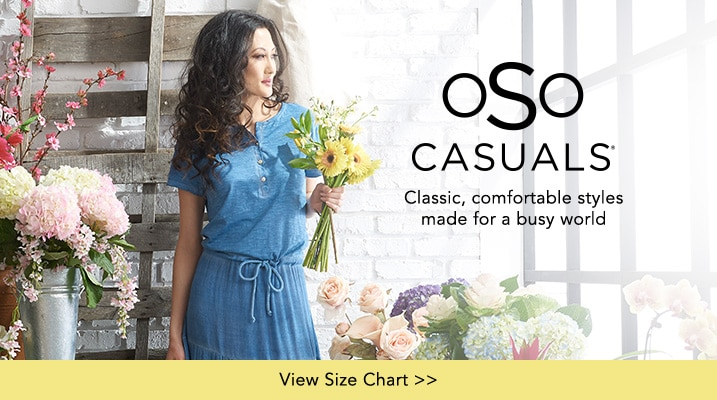 OSO Casuals® at Evine - OSO Casuals® Knit & Woven Short Sleeve Drawstring Waist Henley Dress - 736-509