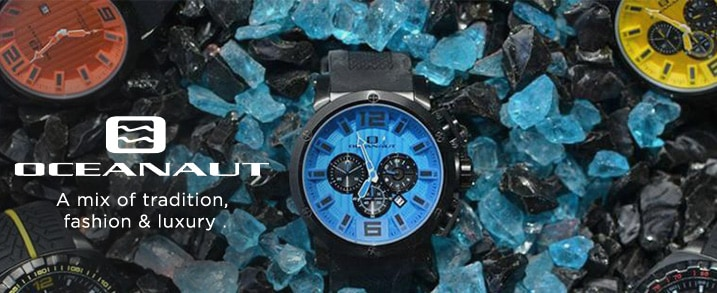 Oceanaut at Evine - A mix of tradition, fashion & luxury - Oceanaut Men's 48mm Spider Quartz Chronograph Date Black Silicone Strap Watch - 636-089