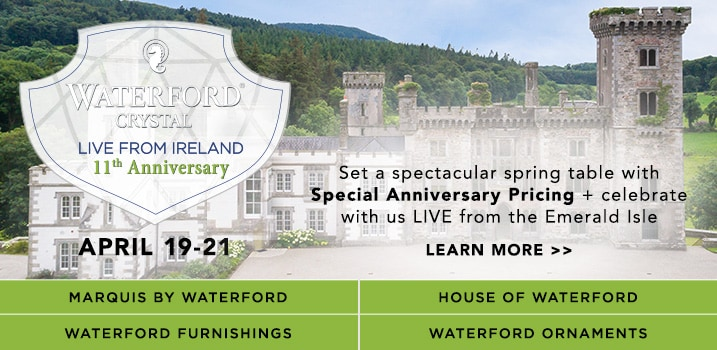 Waterford Crystal - Live from Ireland Coming Soon at Evine