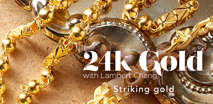 24K Gold with Lambert Cheng at Evine
