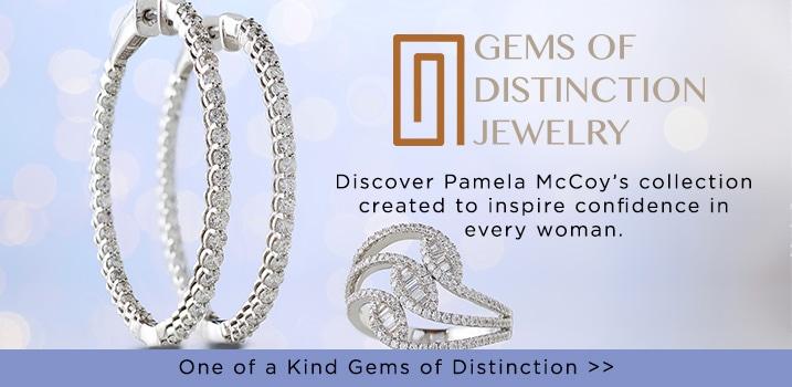 Pamela McCoy Gems of Distinction at Evine - Gems of Distinction™ 14K Gold Choice of Carat Diamond Inside-out Hoop Earrings - 154-219, Gems of Distinction™ 14K White Gold 0.82ctw Baguette & Round Diamond Fashion Ring - 170-439