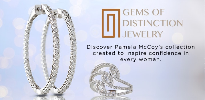 Pamela McCoy Gems of Distinction at Evine - Gems of Distinction™ 14K Gold Choice of Carat Diamond Inside-out Hoop Earrings - 154-219, Gems of Distinction™ 14K White Gold 0.82ctw Baguette & Round Diamond Fashion Ring - 170-439