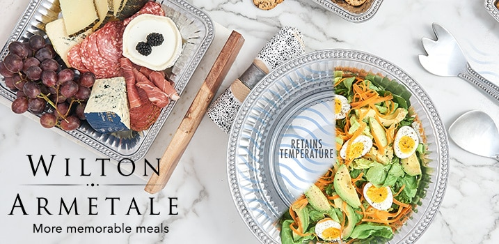 Wilton Armetale - More Memorable Meals at Evinem - Wilton Armetale Flutes & Pearls 12inch Polished Aluminum Round Bowl - 475-041, Wilton Armetale Flutes & Pearls Choice of Oval, Round or Square Aluminum Tray - 475-040, Wilton Armetale Flutes & Pearls 3-Piece Polished Aluminum Salad Serving Set - 475-036, Wilton Armetale Flutes & Pearls 12.5inch Polished Aluminum Cracker Tray - 475-048, Wilton Armetale Flutes & Pearls 2-Piece Polished Aluminum Chip Dish & Dip Bowl Set - 475-035