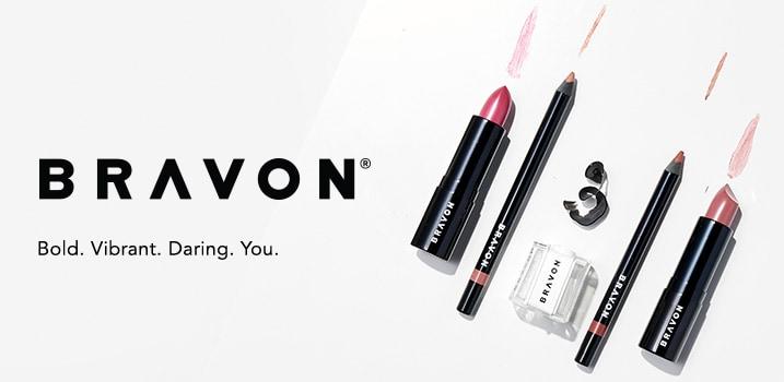 Bravon - Bold. Vibrant. Daring. You. at Evine -  Bravon Lip Prefix Liner & Motto Matte Moisture Lipstick w/ Sharpener - 313-908