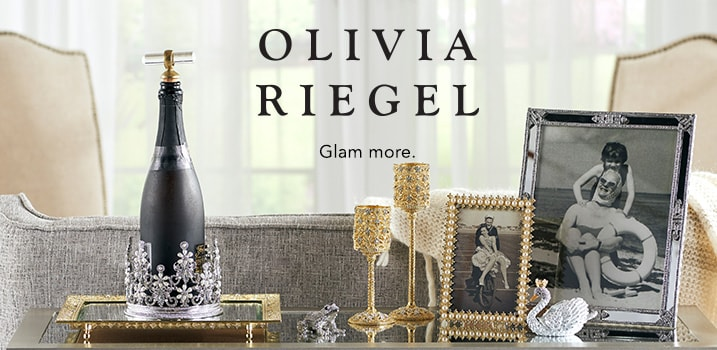 Olivia Riegel - Glam More at Evine - OLIVIA RIEGEL Choice of Crystal & Pewter Animal Box w/ Lid - 474-521, OLIVIA RIEGEL Choice of Size Crystal & Pearl Picture Frame - 474-522, OLIVIA RIEGEL Sinclair 6inch or 8inch Crystal Accented Footed Tealight Candle Holder - 474-531, OLIVIA RIEGEL Deco Choice of Size Crystal Accented Mirrored Picture Frame - 474-527