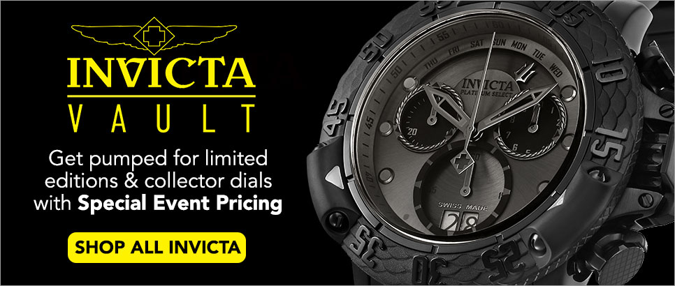 Invicta Vault - Free standard shipping on limited editions and collector dials - Invicta Men's 50mm Platinum Select Subaqua Poseidon Swiss Made Quartz Chronograph Bracelet Watch - 651-472