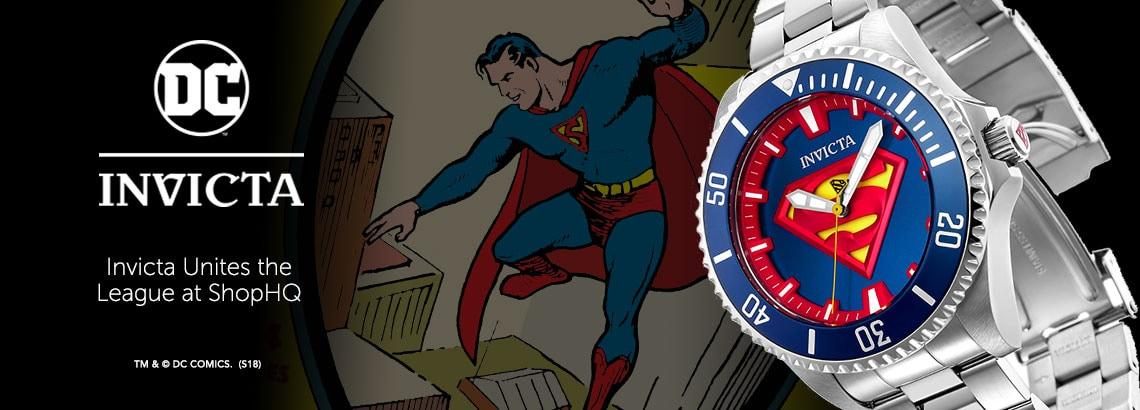 INVICTA DC at ShopHQ - Invicta DC Comics Justice League 38mm or 47mm Grand Diver Limited Edition Automatic Bracelet Watch - 656-018