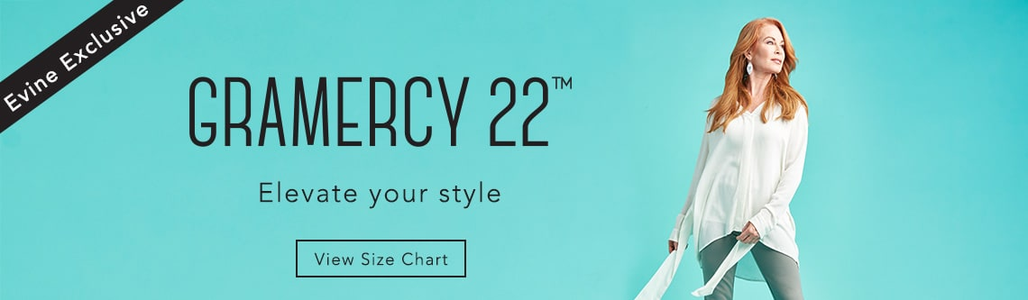 Gramercy 22 at Evine - 739-534, Gramercy 22™ Stretch Knit Elastic Waist Button Detailed Riding Pants - 739-533