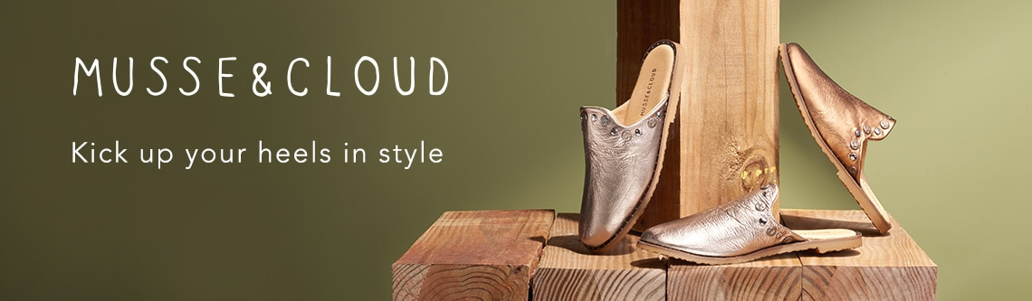Musse & Cloud at Evine - Musse & Cloud 'Izzie' Grained Leather Stud Detailed Mules - 739-131