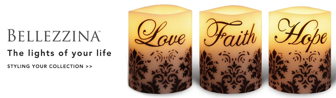 BELLEZZINA FLAMELESS CANDLES  at Evine