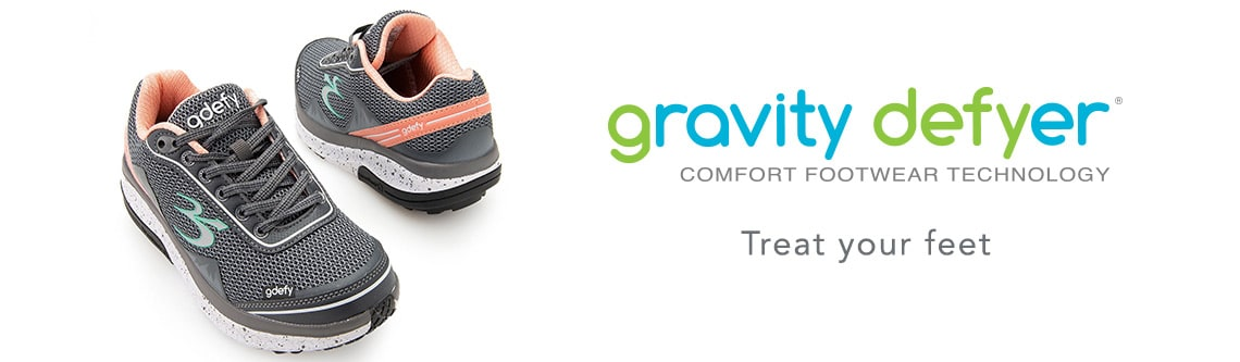 Gravity Defyer at ShopHQ - Gravity Defyer 'Mighty Walk' Mesh Lace-up Sneakers - 739-874