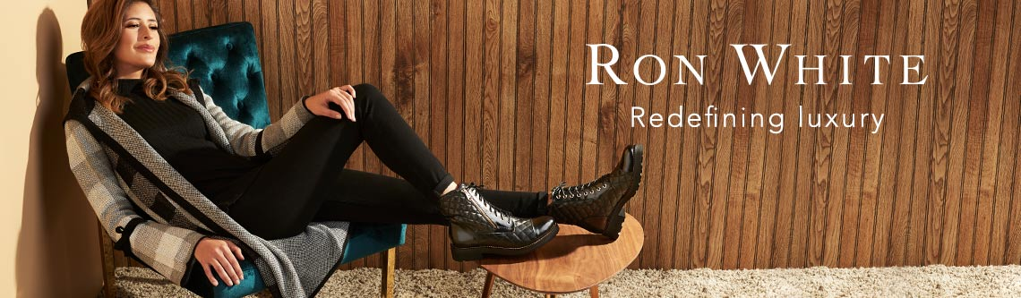 Ron White at Evine - 740-864 Ron White 'Piper' Burnished Calf Leather Buckle Detailed Knee-High Boots