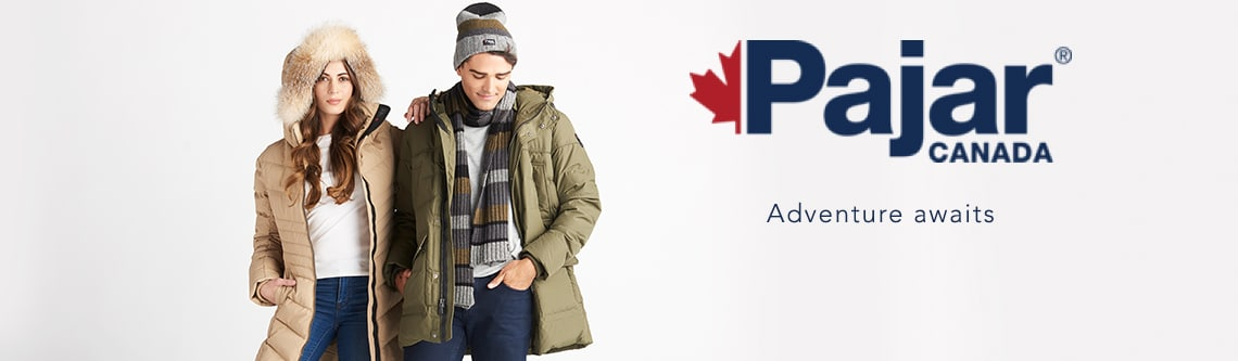 Pajar Canada at Evine - 741-176 Pajar 'Queens' Chevron Quilted Downfill Puffer Coat w/ Removable Fur Hood, 741-181 Pajar 'Teller' Men's Quilted Downfill Puffer Coat w/ Removable Hood