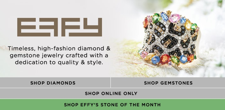 EFFY at EVINE - 174-128 EFFY 'Confetti' 2.76ctw Diamond, Multi Sapphire & Tsavorite Animal Print Ring