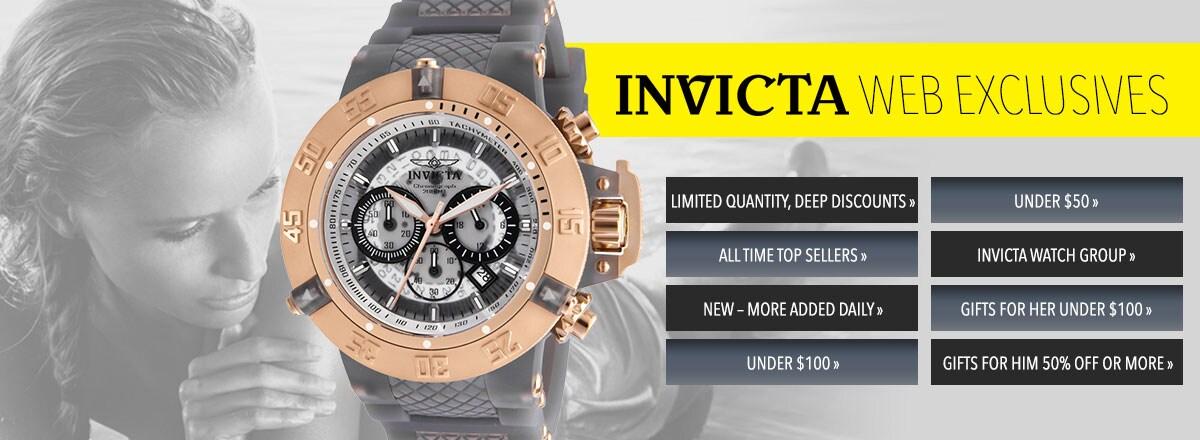 INVICTA WEB EXCLUSIVES - 653-075 Invicta Men's 50mm Subaqua Quartz Multi Function Silicone Strap Watch
