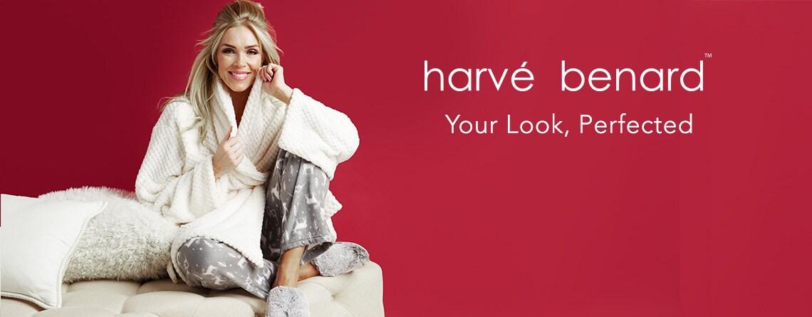 Harve Benard at Evine - 738-913 Harve Benard Plush Waffle Textured Self-Tie Robe, 738-046 Harve Benard Minky Fleece Top, Pants & Sleep Mask 3-Piece Pajama Set, 738-450 Harve Benard Faux Fur Slippers