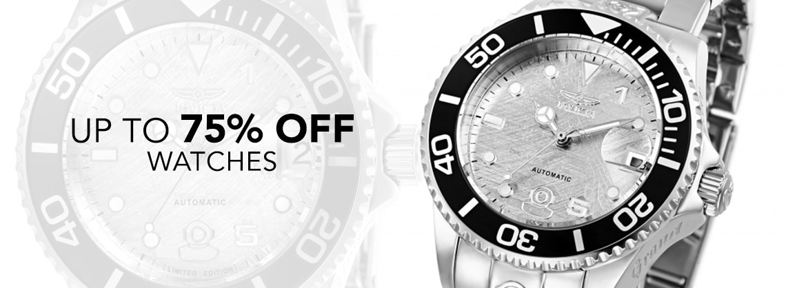 UP TO 75% OFF WATCHES - 665-530 Invicta 38mm or 47mm Grand Diver 15th Anniversary Limited Edition Automatic Meteorite Dial Watch