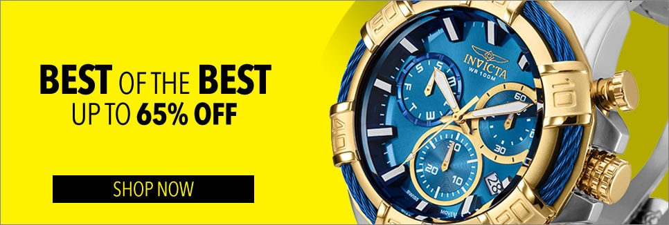 Best of the Best - up to 65% off - Invicta Men's 52mm Bolt Swiss Quartz Chronograph Stainless Steel Bracelet Watch - 650-188