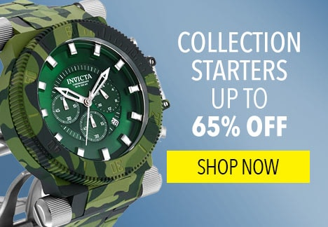 Collection Starters up to 65% off - Invicta Men's 52mm Coalition Forces Camo Hydroplated Quartz Chronograph Bracelet Watch w/ Dive Case - 654-881