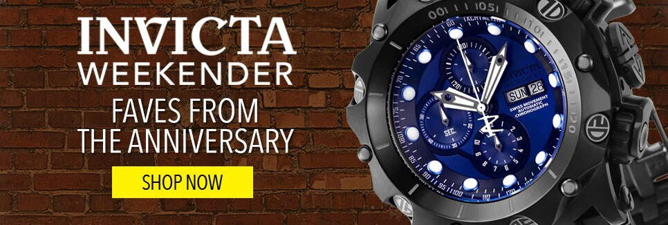 Invicta Weekender Faves from the Anniversary - Invicta Reserve Men's 52mm Venom Hybrid Swiss Automatic Chronograph Bracelet Watch - 656-024