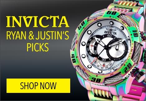 Ryan & Justin's Picks - 648-320 Invicta Men's 50mm Speedway Viper Gen III Quartz Chronograph Iridescent Bracelet Watch