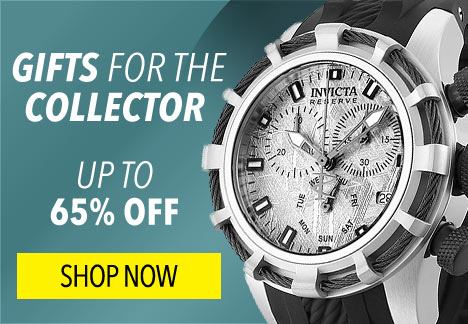 Gifts for the Collector- Up to 65% Off - 657-642 Invicta Reserve 40mm or 50mm Bolt Swiss Quartz Chronograph Muonionalusta Meteorite Dial Watch