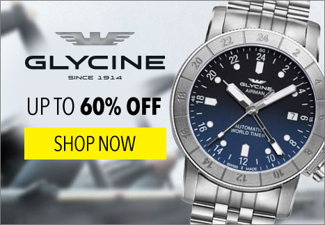 Glycine Up to 60% Off - 648-987 Glycine 42mm Airman Swiss Made Automatic GMT Stainless Steel Bracelet Watch