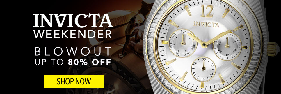 Invicta Weekender- Invicta Blowout Up to 80% Off - 662-863 Invicta Women's Angel Quartz Textured Two-tone Stainless Steel Bracelet Watch