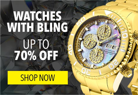 Watches with Bling  Up to 70% Off -  664-913 Invicta Reserve 47mm Pro Diver Limited Edition Swiss Automatic Mother-of-Pearl Dial Chrono Watch