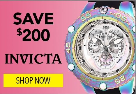 Save $200 on Invicta at Evine - 646-784