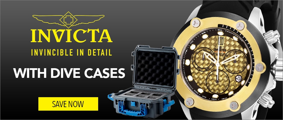 Invicta with Dive Cases at Evine - 648-124
