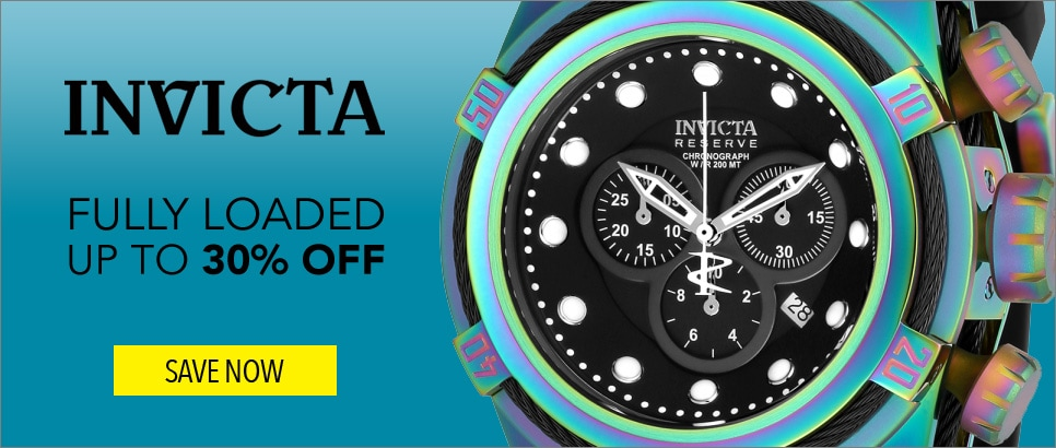Invicta Fully Loaded – Up to 30% OFF - Invicta Reserve Men's 52mm Bolt Zeus Swiss Quartz Chronograph Iridescent Watch w/1-Slot Dive Case - 656-345