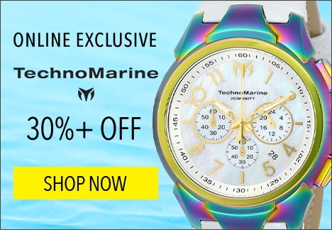 Online Exclusive TechnoMarine 30%+ OFF - TechnoMarine Men's 48mm Sea Dream Quartz Chronograph Mother-of-Pearl Leather Strap Watch - 640-938