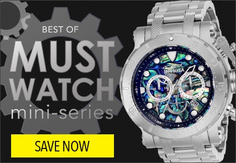Best of Must Watch Mini Series Invicta 52mm Coalition Forces Quartz Chronograph Abalone Dial Stainless Steel Bracelet Watch - 651-453
