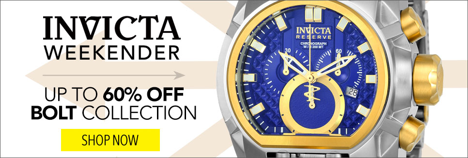 Up to 60% OFF Bolt Collection - Invicta Reserve Men's 52mm Bolt Zeus Magnum Swiss Quartz Dual Movement Bracelet Watch - 629-903