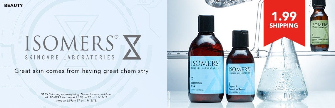 21st Anniversary Isomers at Evine - ISOMERS Skincare Copper-P Concentrate Serum & Copper Rich Mask Bonus Size Duo - 312-056, ISOMERS Skincare Stem Genesis Intensive Serum Concentrate Duo 1.01 oz Each - 313-371