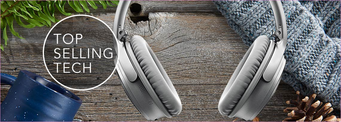 TOP SELLING TECH at Evine - Bose QuietComfort 35 II Noise Cancelling Bluetooth Wireless Headphones - 472-422