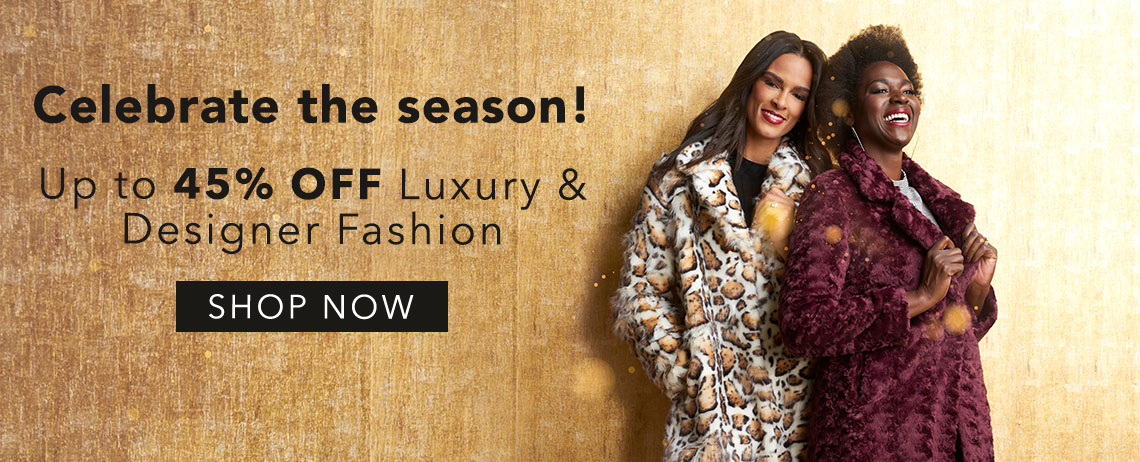 Celebrate the Season with up to 45% off Luxury & Designer Fashion at Evine - 738-818 Donna Salyers' Fabulous-Furs Faux Fur Notched Collar 2-Pocket Hook Front Coat