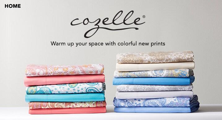 Cozelle® at Evine - 468-037 - Cozelle® 'Bella Rosa' Microfiber Solid Eyelet Trimmed 4-Piece Sheet Set