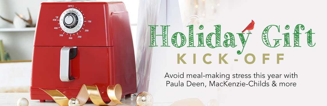 Holiday Gift Kick-Off at Evine - Paula Deen 1700W 8.5 qt Ceramic Nonstick XXL Air Fryer w/ Cooking Inserts - 474-909