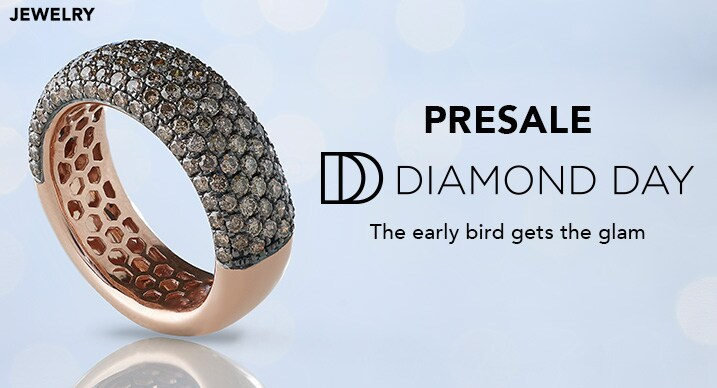 Presale Diamond Day at Evine - Colors of Prism™ 14K Rose Gold 1.82ctw Australian Mocha Diamond Pave Set Band Ring - 167-985