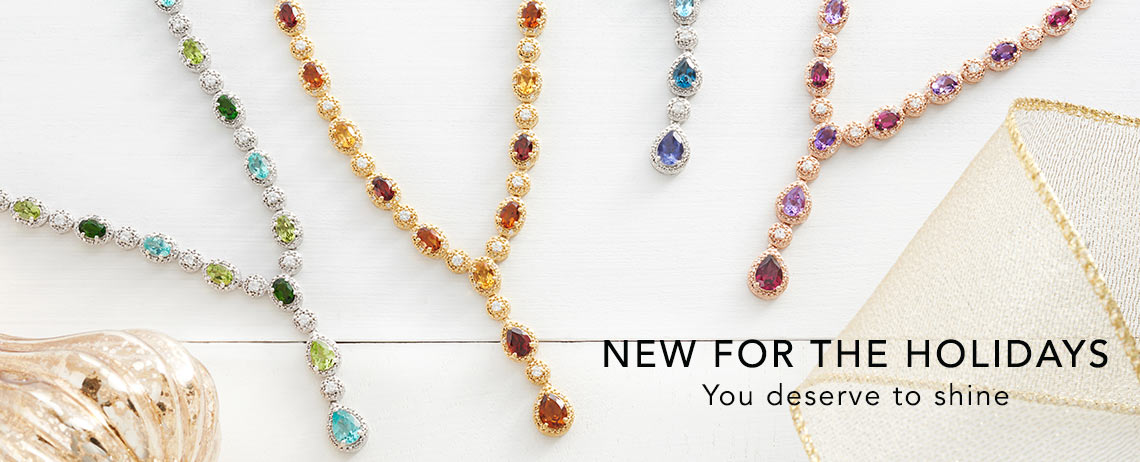 NEW FOR THE HOLIDAYS at Evine - 177-392 Gem Treasures® Multi Gemstone & White Zircon Adjustable Y-Necklace