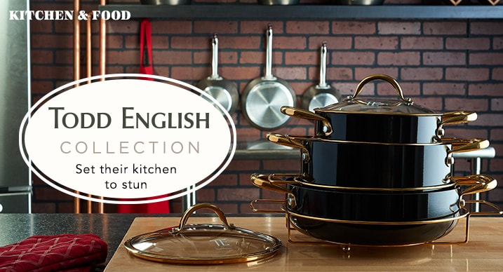 Todd English Collection at Evine - 470-509 - Todd English Baroque Series Titanium Ceramic 9-Piece Covered Cookware Set